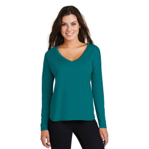 District Made® Drapey Long Sleeve Tee - Ladies