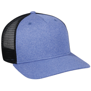 Structured 5 Panel Heathered Mesh Back Cap